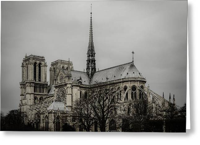 Medieval Temple Greeting Cards - Cathedral of Notre Dame de Paris Greeting Card by Marco Oliveira