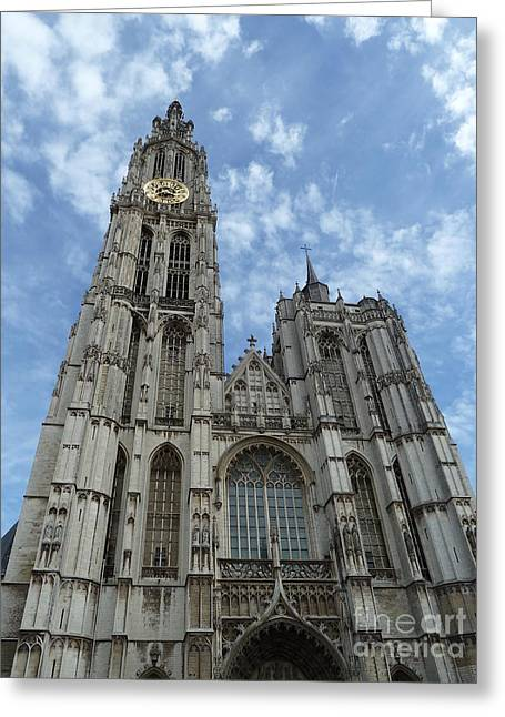 Faa Featured Work Greeting Cards - Cathedral of Our Lady Antwerp Belgium Greeting Card by Zori Minkova