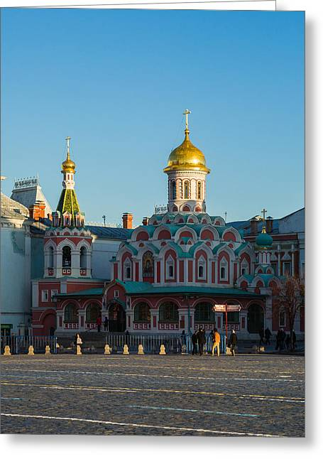 Cathedral Of Our Lady Of Kazan - Square Greeting Card by Alexander Senin