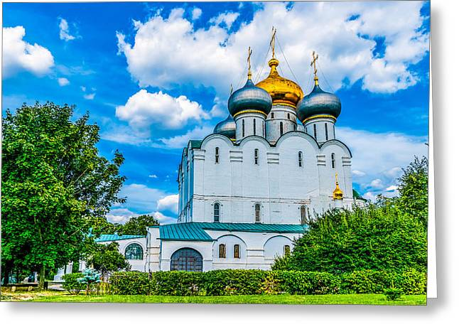 Maiden Greeting Cards - Cathedral of Our Lady of Smolensk Greeting Card by Alexander Senin