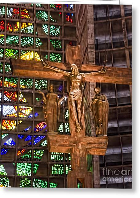 St Sebastian Greeting Cards - Cathedral of Rio de Janeiro Greeting Card by Jon Berghoff