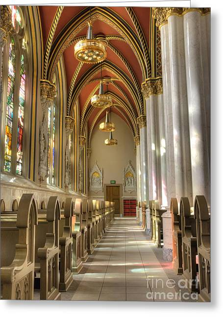 Arch Greeting Cards - Cathedral of Saint Helena Greeting Card by Juli Scalzi