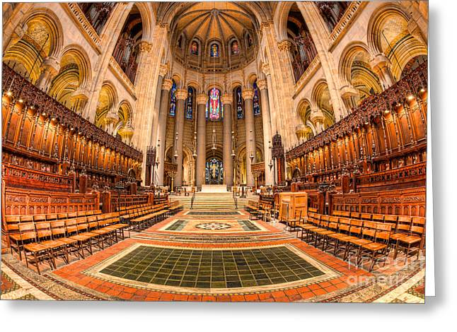 Morningside Heights Greeting Cards - Cathedral of Saint John the Divine I Greeting Card by Clarence Holmes
