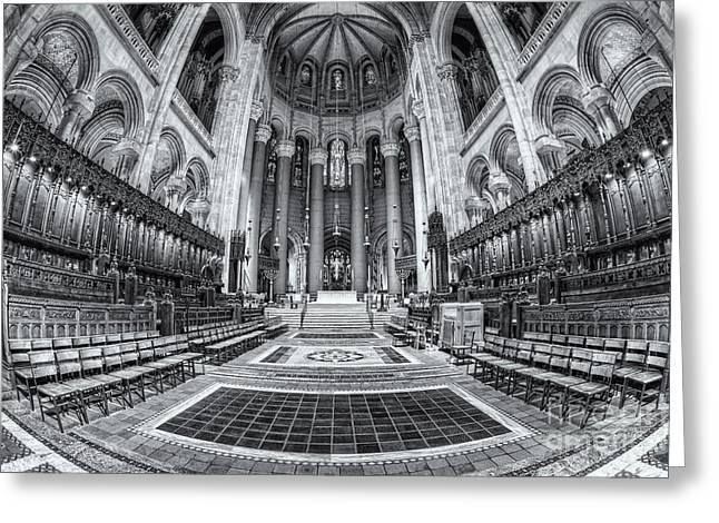 Morningside Heights Greeting Cards - Cathedral of Saint John the Divine II Greeting Card by Clarence Holmes
