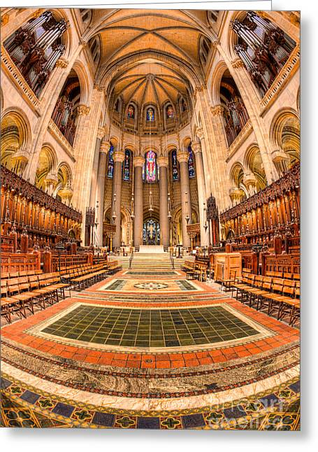 Morningside Heights Greeting Cards - Cathedral of Saint John the Divine III Greeting Card by Clarence Holmes