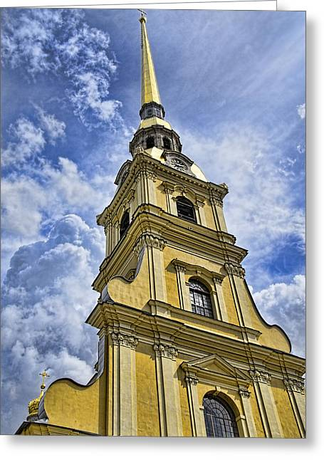 Cathedral Of Saints Peter And Paul - St. Persburg Russia Greeting Card by Jon Berghoff