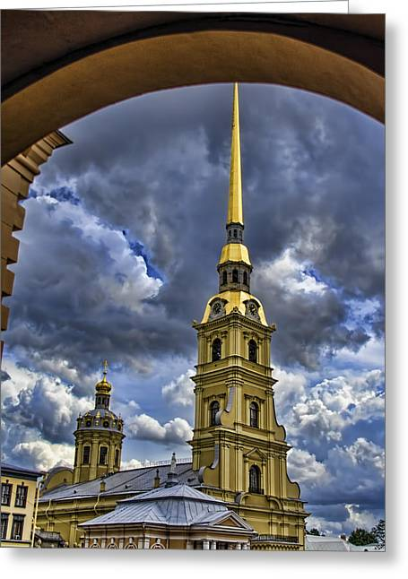 Cathedral Of Saints Peter And Paul - St. Petersburg Russia Greeting Card by Jon Berghoff