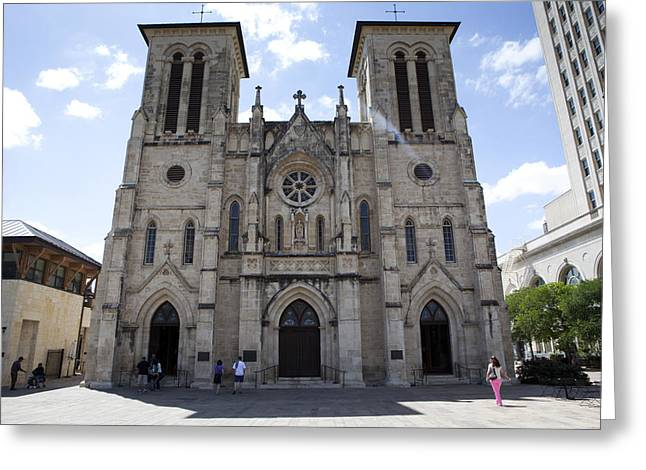 Nuestra Senora De Guadalupe Greeting Cards - Cathedral of San Fernando Greeting Card by Karen Cowled