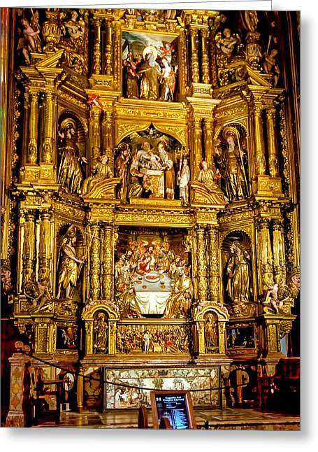 Seu Greeting Cards - Cathedral of Santa Maria of Palma side altar Greeting Card by Jon Berghoff