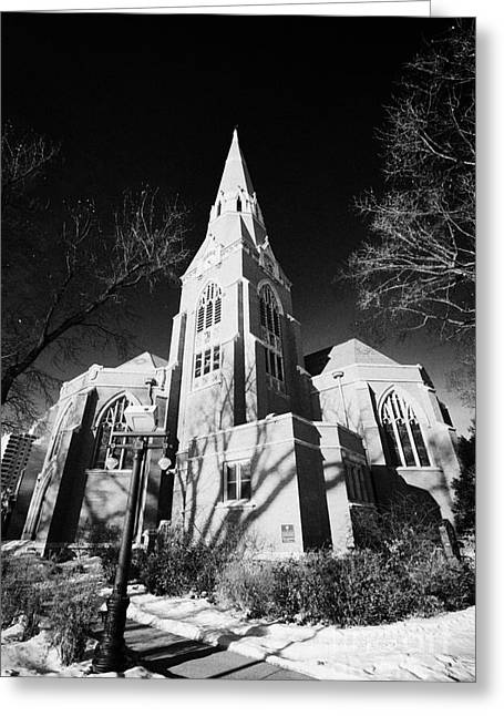 John The Evangelist Greeting Cards - cathedral of st John the Evangelist Saskatoon Saskatchewan Canada Greeting Card by Joe Fox