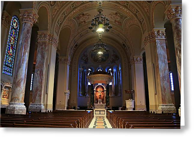 Altar Art Greeting Cards - Cathedral of St. Joseph Greeting Card by Stephen Stookey