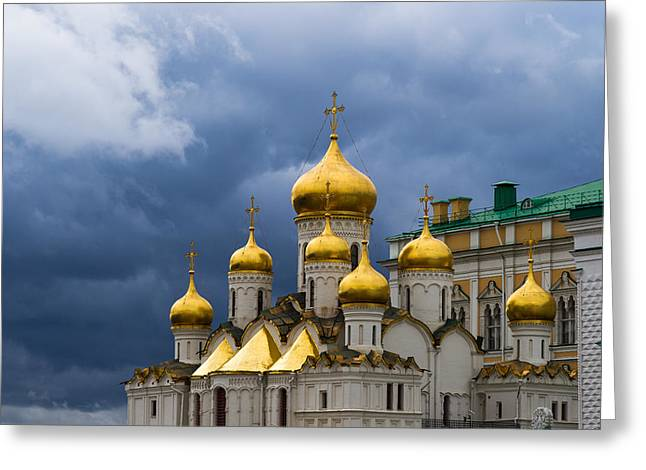 Cupola Greeting Cards - Cathedral Of The Annunciation Of Moscow Kremlin Greeting Card by Alexander Senin