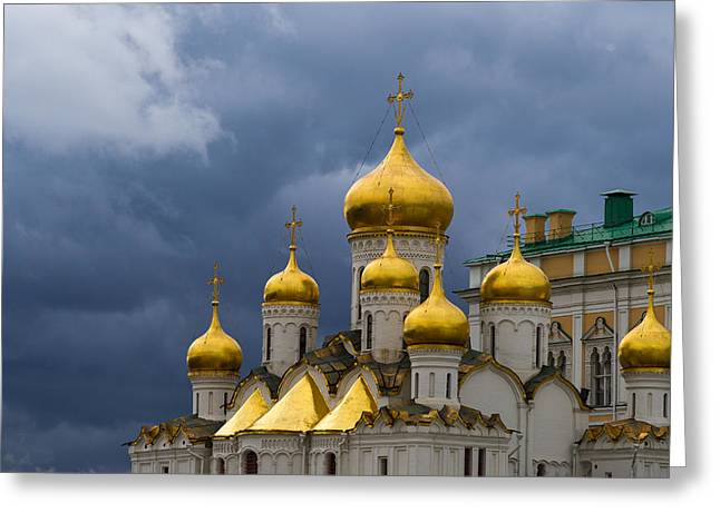 Center City Greeting Cards - Cathedral Of The Annunciation  Of Moscow Kremlin - Featured 3 Greeting Card by Alexander Senin