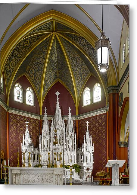 Cathedral Of The Holy Family 7 Greeting Card by F Leblanc