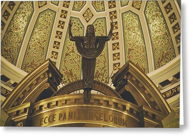Ceiling Mobile Greeting Cards - Cathedral of the Immaculate Conception Detail - Mobile Alabama Greeting Card by Mountain Dreams