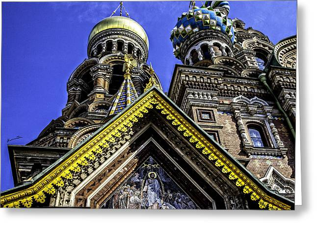 Church On Spilled Blood Greeting Cards - Cathedral of the Resurrection - St. Petersburg - Russia Greeting Card by Madeline Ellis