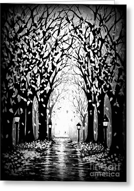 Pa Mixed Media Greeting Cards - Cathedral Park Greeting Card by Janine Riley