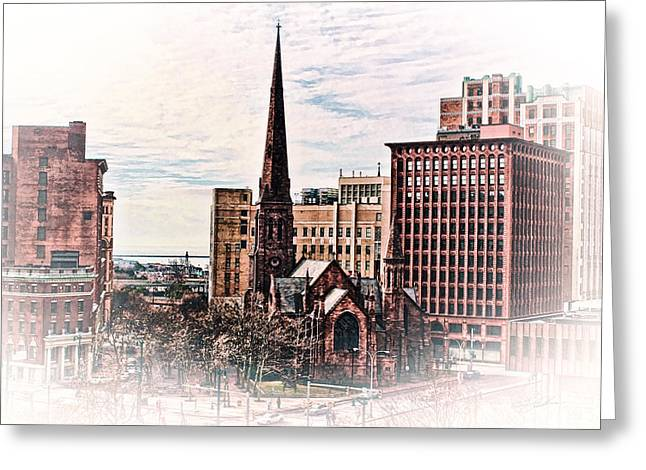 Classic Architecture Greeting Cards - Cathedral Park Greeting Card by Peter Chilelli