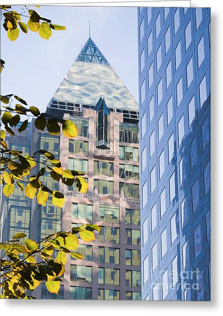 Dappled Light Greeting Cards - Cathedral Place Vancouver Greeting Card by Chris Dutton
