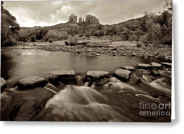Creekbed Greeting Cards - Cathedral Point Sadona Greeting Card by Sean Cupp