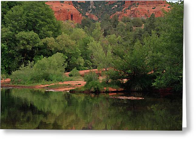 Cathedral Rock 1 Greeting Card by Ellen Henneke