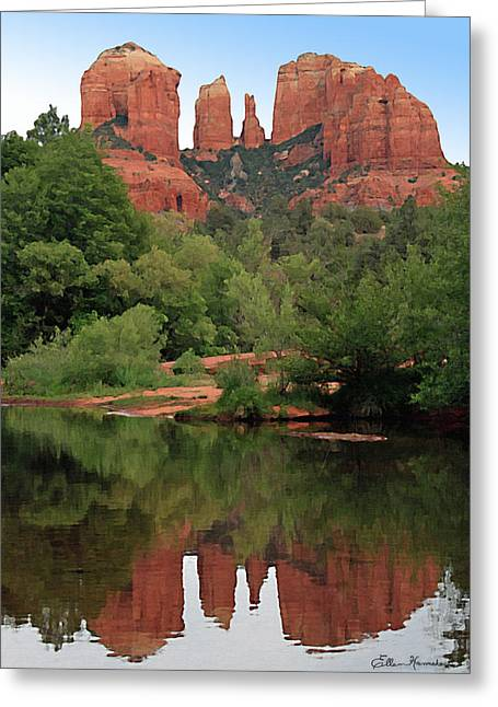 Cathedral Rock Greeting Cards - Cathedral Rock 1 Greeting Card by Ellen Henneke