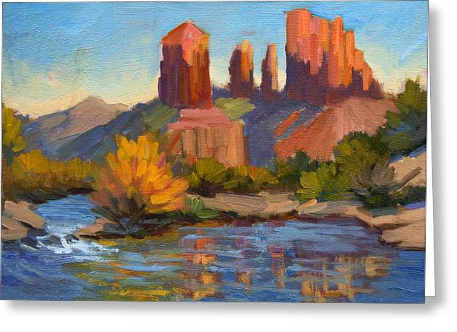 Cathedral Rock Greeting Cards - Cathedral Rock 2 Greeting Card by Diane McClary