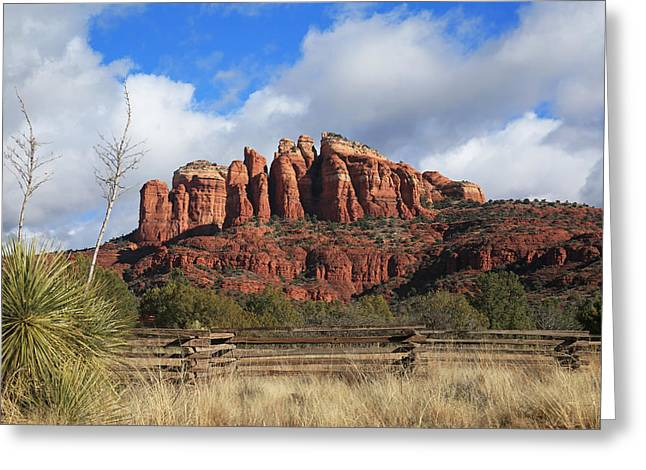 Cathedral Rock Greeting Cards - Cathedral Rock- Back Side Greeting Card by Donna Kennedy
