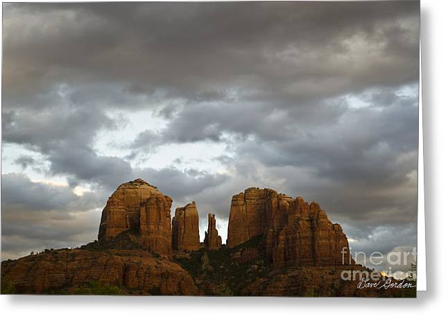 Cathedral Rock Greeting Card by David Gordon