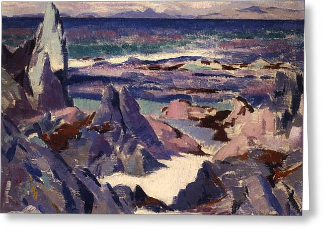 Colorist Greeting Cards - Cathedral Rock Greeting Card by Francis Campbell Boileau Cadell