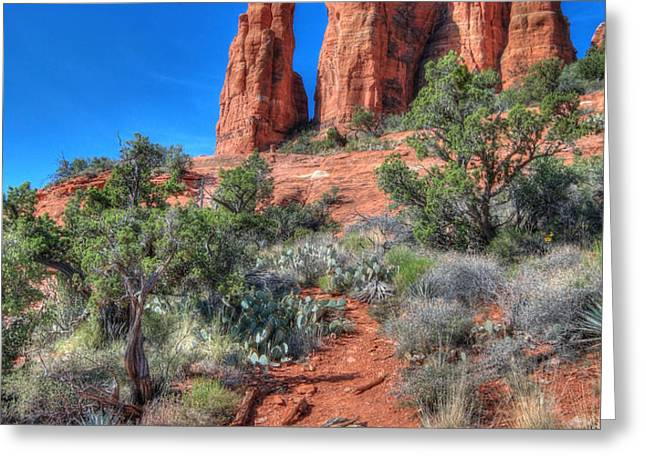 Cathedral Rock Greeting Card by Lori Deiter