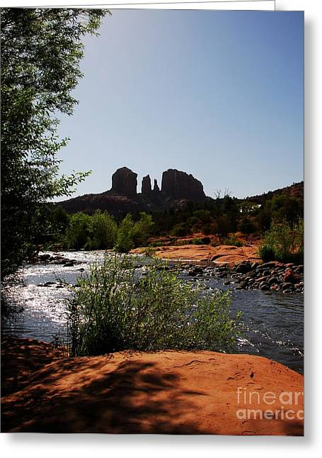 Oak Creek Greeting Cards - Cathedral Rock Greeting Card by Mel Steinhauer