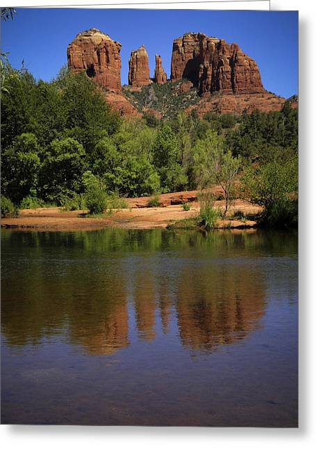 Cathedral Rock Greeting Cards - Cathedral Rock Greeting Card by Penny Lisowski