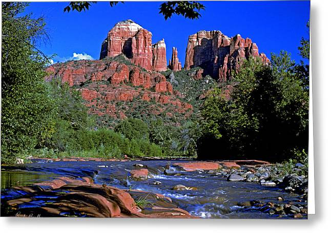 Oak Creek Greeting Cards - Cathedral Rock Greeting Card by Randy Bradley
