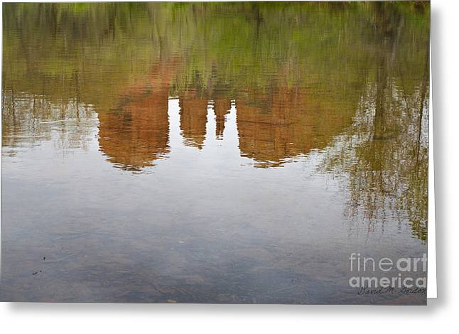 Cathedral Rock Greeting Cards - Cathedral Rock Reflections Greeting Card by David Gordon