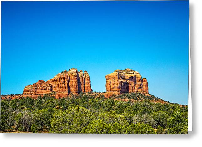 Cathedral Rock Greeting Cards - Cathedral Rock Sedona AZ Greeting Card by Chris Bordeleau