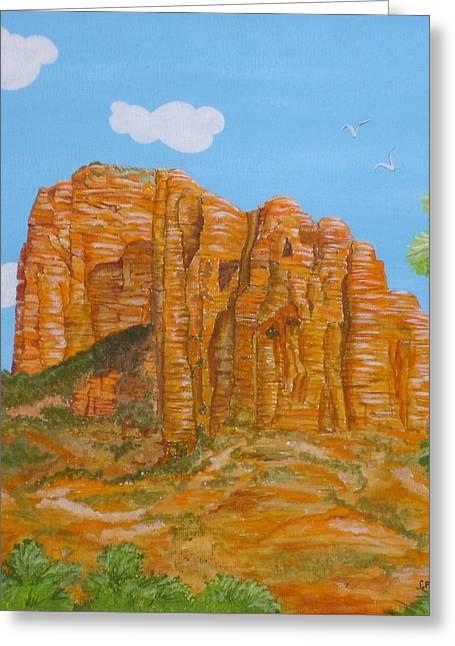 Cathedral Rock Greeting Cards - Cathedral Rock Sedona AZ Right Greeting Card by Carol Sabo