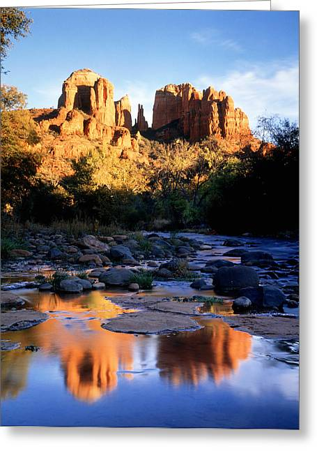 Cathedral Rock Greeting Cards - Cathedral Rock Sedona Az Usa Greeting Card by Panoramic Images