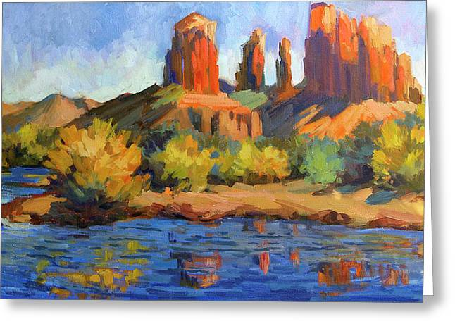 Cathedral Greeting Cards - Cathedral Rock Sedona Greeting Card by Diane McClary