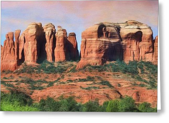 Cathedral Rock Digital Greeting Cards - Cathedral Rock - Sedona Greeting Card by Lori Deiter
