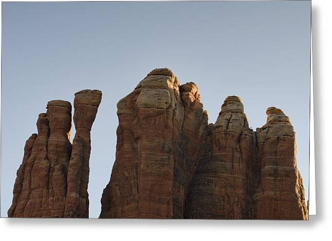 Cathedral Rock Spires Greeting Card by Dave Gordon