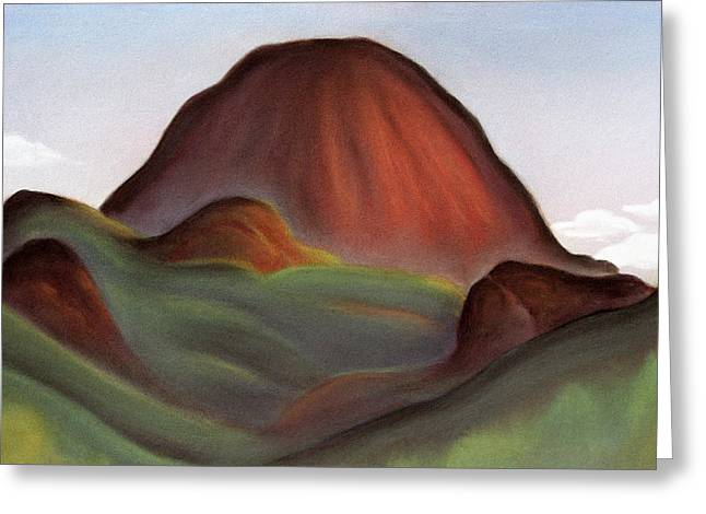 National Pastels Greeting Cards - Cathedral Rock Warrumbungle National Park NSW Greeting Card by Judith Chantler