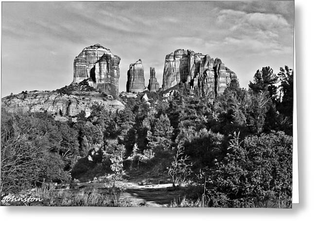 Cathedral Rock Digital Greeting Cards - Cathedral Rocks Red Rock State Park Arizona Greeting Card by  Bob and Nadine Johnston