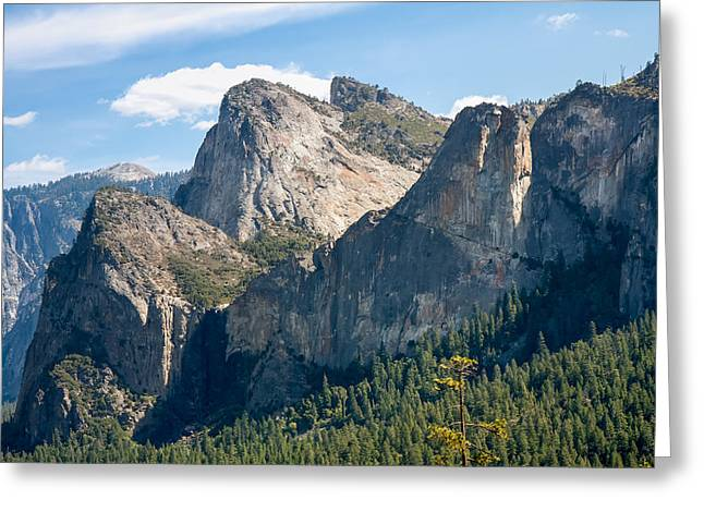 Mountain Valley Greeting Cards - Cathedral Rocks Yosemite Greeting Card by John Bailey