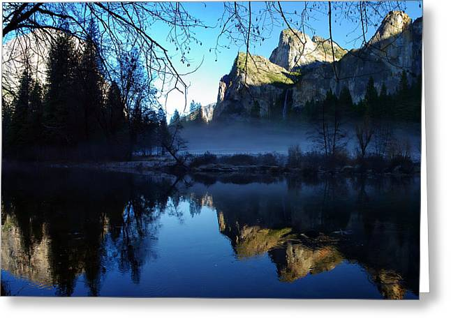 Cathedral Rock Greeting Cards - Cathedral Rocks Yosemite National Park Greeting Card by Scott McGuire