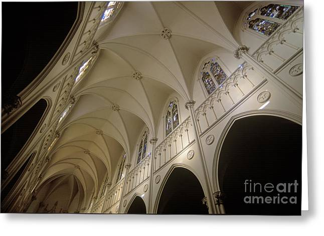 Transparency Geometric Greeting Cards - Cathedral Santiago Chile Greeting Card by Craig Lovell