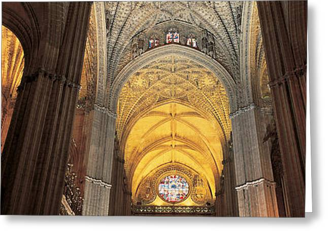 Andalucia Greeting Cards - Cathedral Seville Andalucia Spain Greeting Card by Panoramic Images