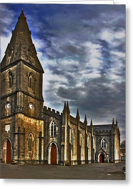 Medieval Temple Greeting Cards - Cathedral sky Greeting Card by Tony Reddington