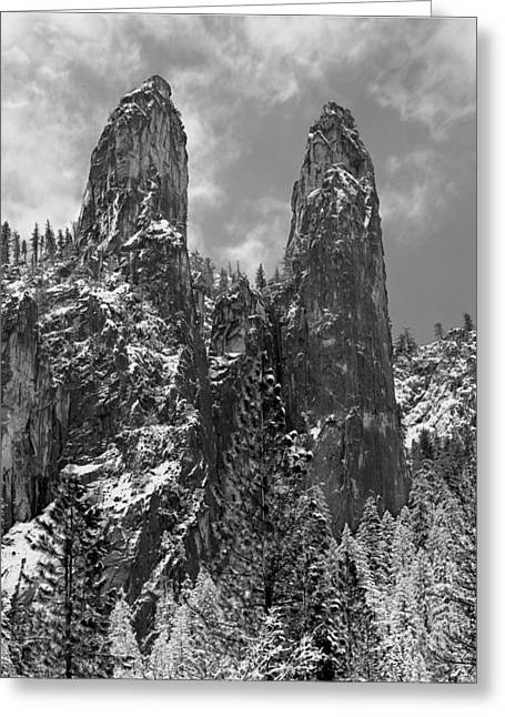 Cathedral Rock Greeting Cards - Cathedral Spires Greeting Card by Ed  Cooper Photography
