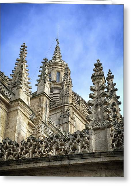 Castilla Greeting Cards - Cathedral Spires Greeting Card by Joan Carroll